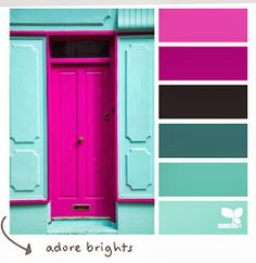 adore brights Color Palette by Design Seeds Colour Pallette, Colour Schemes, Color Patterns, Color Combos, Purple Color Palettes, Pink Palette, Color Palate, Design Seeds, Pantone