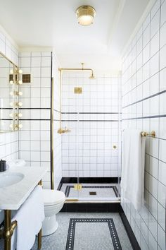 Ludlow Hotel, New York City The takeaway from this Hotel's design: If your bathroom is seriously small, distract your attention to little luxuries to make your bath experience more pleasant: lavish bath products, a designer bathrobe, and extra-plush towels.