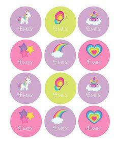 Look at this #zulilyfind! Fairy Tale Waterproof Personalized Round Sticker Set by Spark & Spark #zulilyfinds