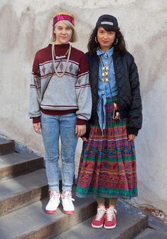 "Kaisa & Marika    ""We wear what we like and grind up all night, cause we're cleva reppin nordic soul for Eva."""