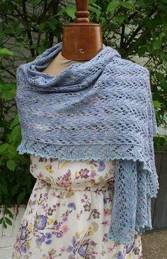 Ravelry: Something Blue Shawl pattern by Meridith Shepherd