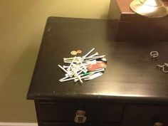 Emptying your pockets at the end of the day.   23 Problems Every Golfer Will Understand