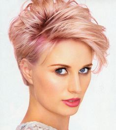 Edgy Platinum Spikes - 40 Best Edgy Haircuts Ideas to Upgrade Your Usual Styles - The Trending Hairstyle Short Hair Dos, Pixie Haircut For Thick Hair, Short Brown Hair, Very Short Hair, Short Blonde, Edgy Short Haircuts, Short Hairstyles For Women, Chic Hairstyles, Summer Hairstyles