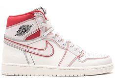 Jordan 1 Retro High Phantom Gym Red With Images White Athletic