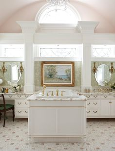 This Palatial Master Bath Was Designed As An Intimate Ladies Boudoir