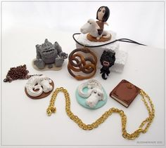 """Polymer clay inspiration -  Characters and items from """"The Neverending Story"""": https://www.facebook.com/buzhandmade"""
