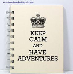 Keep Calm Journal Notebook Diary Sketch by stevenjameskeathley, $8.95