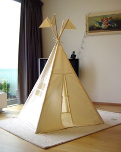 Items similar to Teepee tent - plain MIDI size - play tent tipi wigwam on Etsy Diy Kids Teepee, Teepee Play Tent, Boys Teepee, Diy Tipi, Teepee Party, Spearmint Baby, Indoor Play, Indoor Tents, Home And Deco