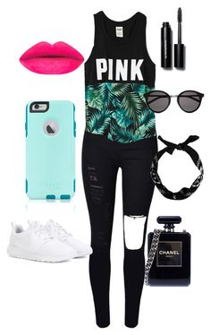 """""""Serenity"""" by millie316 on Polyvore featuring Victoria's Secret, OtterBox, NIKE, Yves Saint Laurent, Chanel, Bobbi Brown Cosmetics, women's clothing, women, female and woman"""