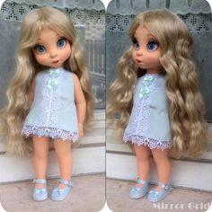 Untitled by Enixeatelier on DeviantArt Disney Baby Dolls, Disney Princess Dolls, Baby Disney, Newberry Dolls, Disney Animators Collection Dolls, Baby Doll Set, Cute Dresses, Flower Girl Dresses, Disney Animator Doll