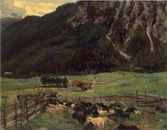 Sheepfold in the Tirol - John Singer Sargent, 1915