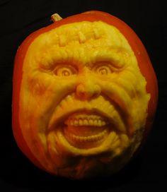 Creeper Pumpkin Sculpture / Carving by Jeff Brown#pumpkinsculpture #pumpkinsculpt #pumpkincarving #pumpkincarve
