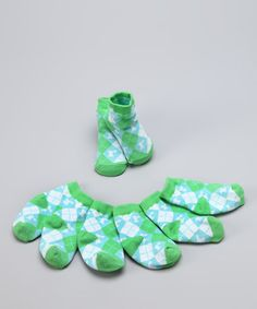 Take a look at this Green & Blue 'R' Initial Socks Set by Mud Pie on #zulily today!
