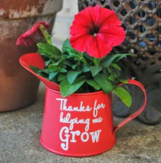 With a sweet message, this dollar store watering can turns into the perfect end-of-year present for your kid's favorite teacher.