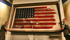 This is The Second Flag raised on Mt.Surabachi on Iwo Jima ,The one made famous by the Iconic Photograph and immortalized in The Statue in Washington D.C.
