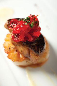 Scallop and foie gras at Sage American Bistro