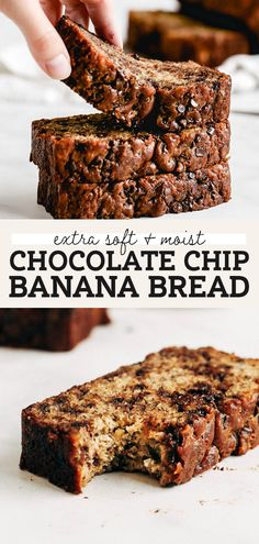This is hands down the BEST EVER chocolate chip banana bread. It's incredibly moist, full of banana flavor, and loaded with chocolate chips. This is the only banana bread recipe you'll ever need! | butternutbakeryblog.com #bananabread #bananabreadrecipe #chocolatechipbananabread #bananarecipes #butternutbakery Chocolate Chip Banana Bread, Chocolate Chip Recipes, Healthy Chocolate, Chocolate Chips, Banana Bread Brownies, Moist Chocolate Chip Muffins, Chocolate Bread Recipe, Banana Bread Cookies, Banana Chocolate Chip Muffins