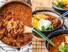 Easy Chili Recipe (6 Ingredients) - The Cookie Rookie® {VIDEO} Best Easy Chili Recipe, Chili Recipes, Meat Recipes, Cooking Recipes, Fast Healthy Meals, Healthy Recipes, Easy Chilli, Blueberry Bread Recipe, Hot Soup