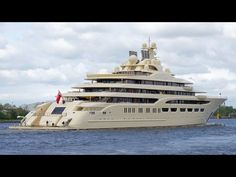 Luxury Yacht Dilbar - now the world's largest yacht - owned by Alisher Usmanov