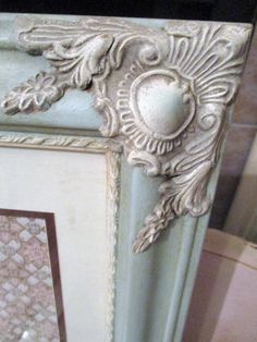 Provence Chalk Paint Frame French Wood Frame Vintage Wallpaper 11x14 Cottage French Linen Accents  It only took me 25 years to get on the band