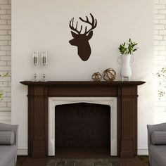 Sweetums Mounted Buck Head' 14 x 24-inch Wall Decal