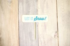Let It Snow Cake Topper  Festive Holiday Collection by liddabits