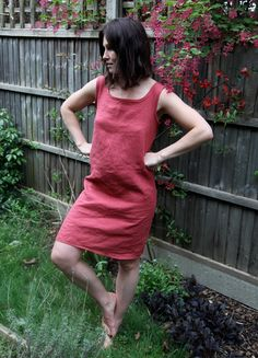 simple linen dress tutorial