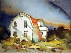 Watercolor Projects, Watercolor Canvas, Watercolor Artists, Watercolor Paintings, Watercolours, Pastel Landscape, Watercolor Landscape, Landscape Paintings, Urban Sketching