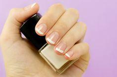 Easy Yet Elegant DIY French Manicure via Hopeful Honey