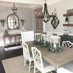Cool 80 Gorgeous Farmhouse Dining Room Table to Fuel Your Remodel https://cooarchitecture.com/2017/07/20/80-gorgeous-farmhouse-dining-room-table-fuel-remodel/
