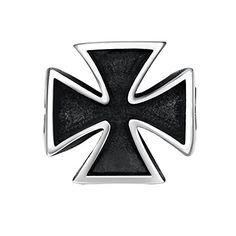 Men's Vintage Gothic Cross Stainless Steel Cast Biker Ban…