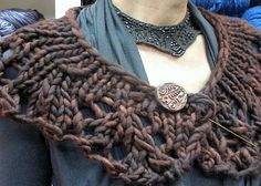 Knit this lace collar up in no time with a size 19 knitting needle and some bulky yarn.  http://www.ravelry.com/projects/sedonaknitwits/oxbow