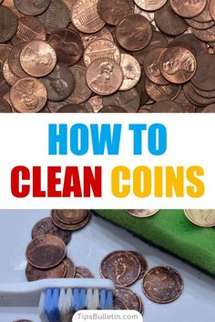 Do you have collectible coins or spare change that is just coated with gunk? Learn how to clean coins the easy way and get them sparkling again. How To Clean Coins, How To Clean Pennies, How Do You Clean, Baking Soda Drain Cleaner, 7 Day Cleanse, Coins Worth Money, Cleaning Silver Jewelry, Baking Soda Uses, Homemade Cleaning Products