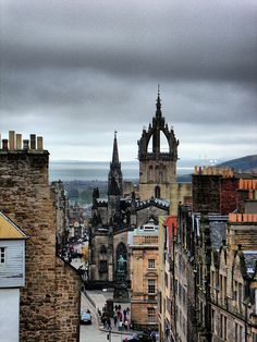 The Royal Mile, St. Giles' Cathedral from the Camera Obscura, Edinburgh, 2012