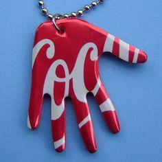 Pop Art Aluminum Can Hand Necklace-art club