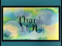 TxStampinSharon: Bokeh Techniques using Another Thank You by Stampin' Up!