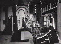 Robert Mallet Stevens and Fernand Leger modernist set designs for L'Inhumaine 1924 #malletstevens #setdesigns #fernandleger