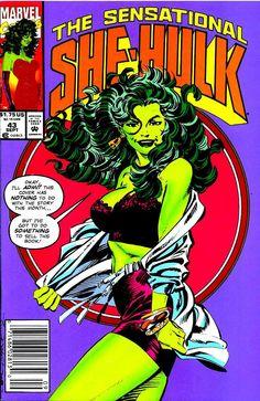 Comic Book Critic  ·  The Sensational She-Hulk #43 (Sep '92) cover by John Byrne.
