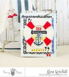 Beautiful mini by Alena! Nautical collection- with super cute life preserver element!