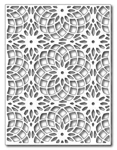 Frantic Stamper Precision Die - Floral Eye Dazzler Card Panel-Our Floral Eye Dazzler Card Panel die measures x It matches the Floral Eye Daz Stencil Patterns, Stencil Art, Stencils, Kirigami, Thermocol Craft, Paper Art, Paper Crafts, Cnc Cutting Design, Laser Cut Panels