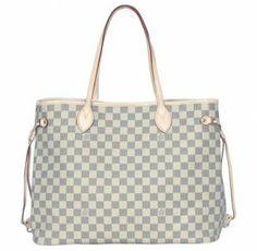 (^o^)/~  Louis Vuitton Damier Azur Canvas Neverfull Gm N51108 #Louis #Vuitton #Women #Handbags #Brown http://www.pinhandbags.com/Louis-Vuitton-Handbags-13/louis-vuitton-damier-azur-canvas-neverfull-gm-n51108-p-817.html , KISS MY BELOVED... ♪♩♭◥