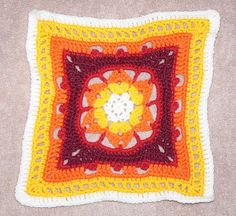 """Ravelry: Project Gallery for Falling Star - 12"""" Square pattern by Melinda Miller"""