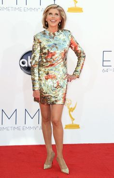 Christine Baranski arrives at the 64th Primetime Emmy Awards