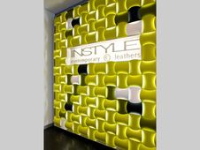 Do you like the idea of the woven wall in front of Michael's corner/lounge area incorporating your logo? Office Dividers, Eco Resin, Acrylic Panels, Wall Installation, Acoustic Panels, Lounge Areas, Find Furniture, Textured Walls, Contemporary
