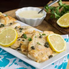 Chicken with Lemon Butter Sauce and Capers (Buca Di Beppo Copycat).