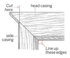 Norm Abram shares how to make mitered joints when, for instance, the side trim on some of your windows has to be narrower than the head casing.