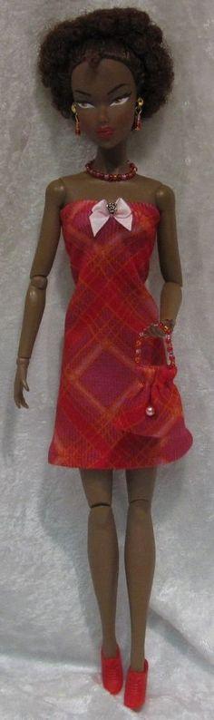 Dynamite Girls MONSIEUR Z Poppy Parker Doll Clothes #08 Dress, Purse, Jewelry #HandmadebyESCHdesigns
