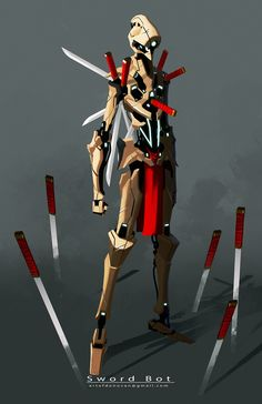 ArtStation - sword bot, Donovan Liu