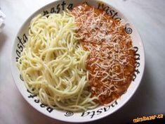 OMÁČKA NA ŠPAGETY-RECEPT OD NÁS ZE ŠKOLKY-VAŘÍ JI DĚTEM :-) Czech Recipes, Ethnic Recipes, What To Cook, Bon Appetit, Macaroni And Cheese, Salsa, Spaghetti, Food And Drink, Dinner