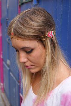 Pinky Brewster  http://www.letigredepapier.fr/products-page/headbands/  #letigredepapier #jewels #bijoux #DIY #hipster #headband #headbands #frontswag #swag #jewelry #style #paris #girls #fantaisie #triangle